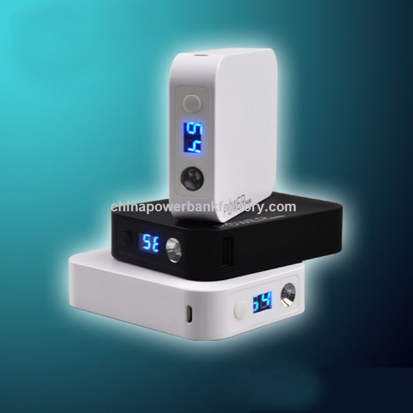 New Arrival high capacity 10400mAh power bank with torch
