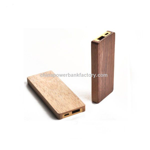 Wood power bank 2600mah with wood carved portable power pack