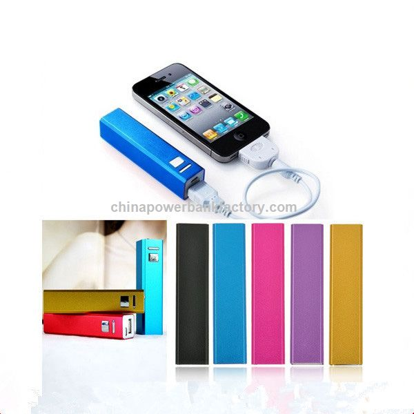 Wholesales 2600mAh Power Bank with RoHS for iPhone and Android
