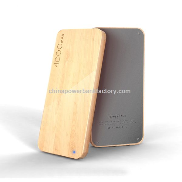 wooden portable power bank best power bank 4000mah/5000mah power bank