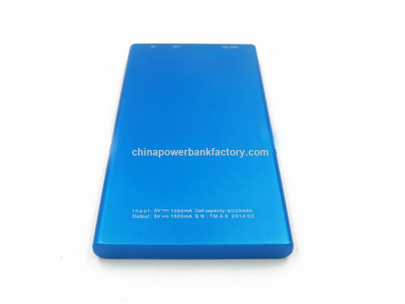 Newest mobile power supply 6000mah dual USB power bank with CE, FCC,RoSH