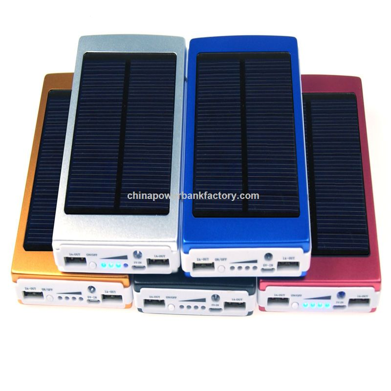 High Capacity Dual USB Output 20000mAh Solar Power Banks