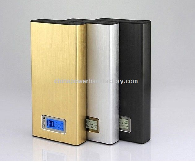 New 20000mAh Power Bank with Universal Dual USB Outputs External Backup Battery Charger