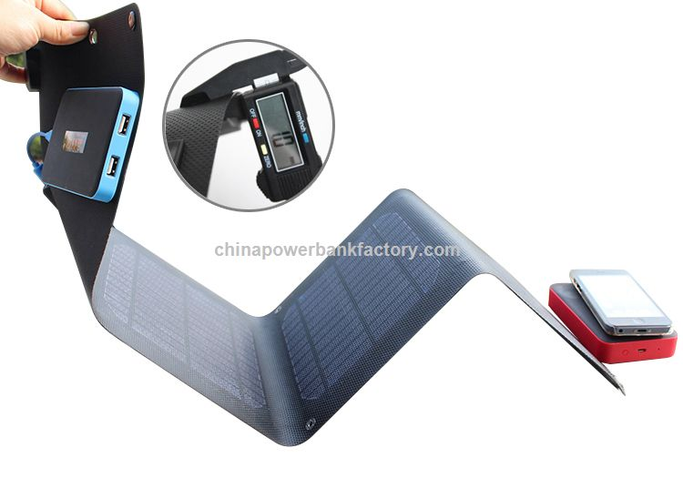 Newest Waterproof 10000mAh Mobile Smartphone Solar Power Bank