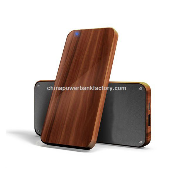 Li polymer battery recycle wooden power bank 4000mah 5000mah