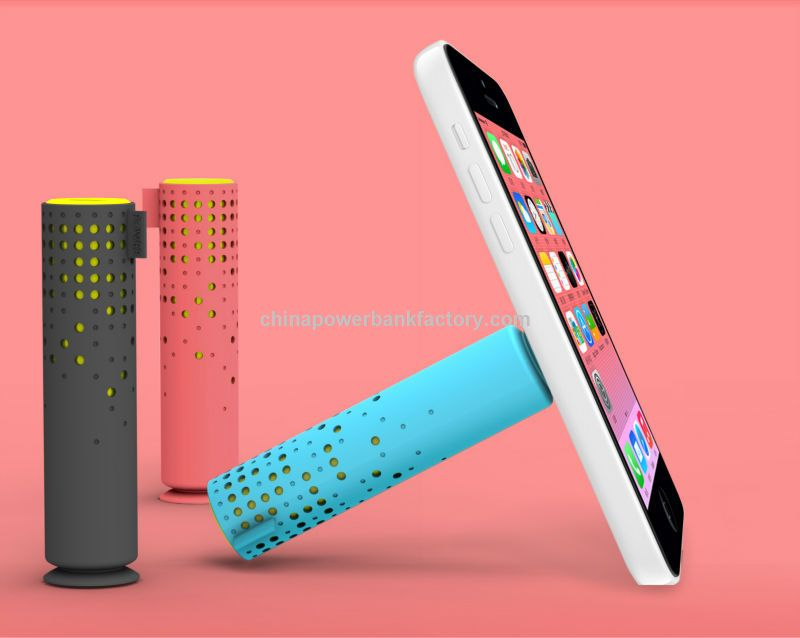 new design and hot sale power bank with mobile stand multifunctional and colourful power banks