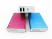 Smartphone portable power bank charger with LED light display 18650 li ion battery