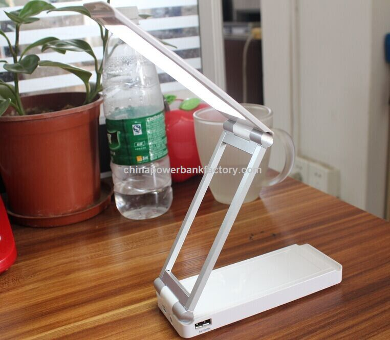 New Multifunctional Rechargeable Dimmable Foldable LED Table Light 4000mAh Power bank