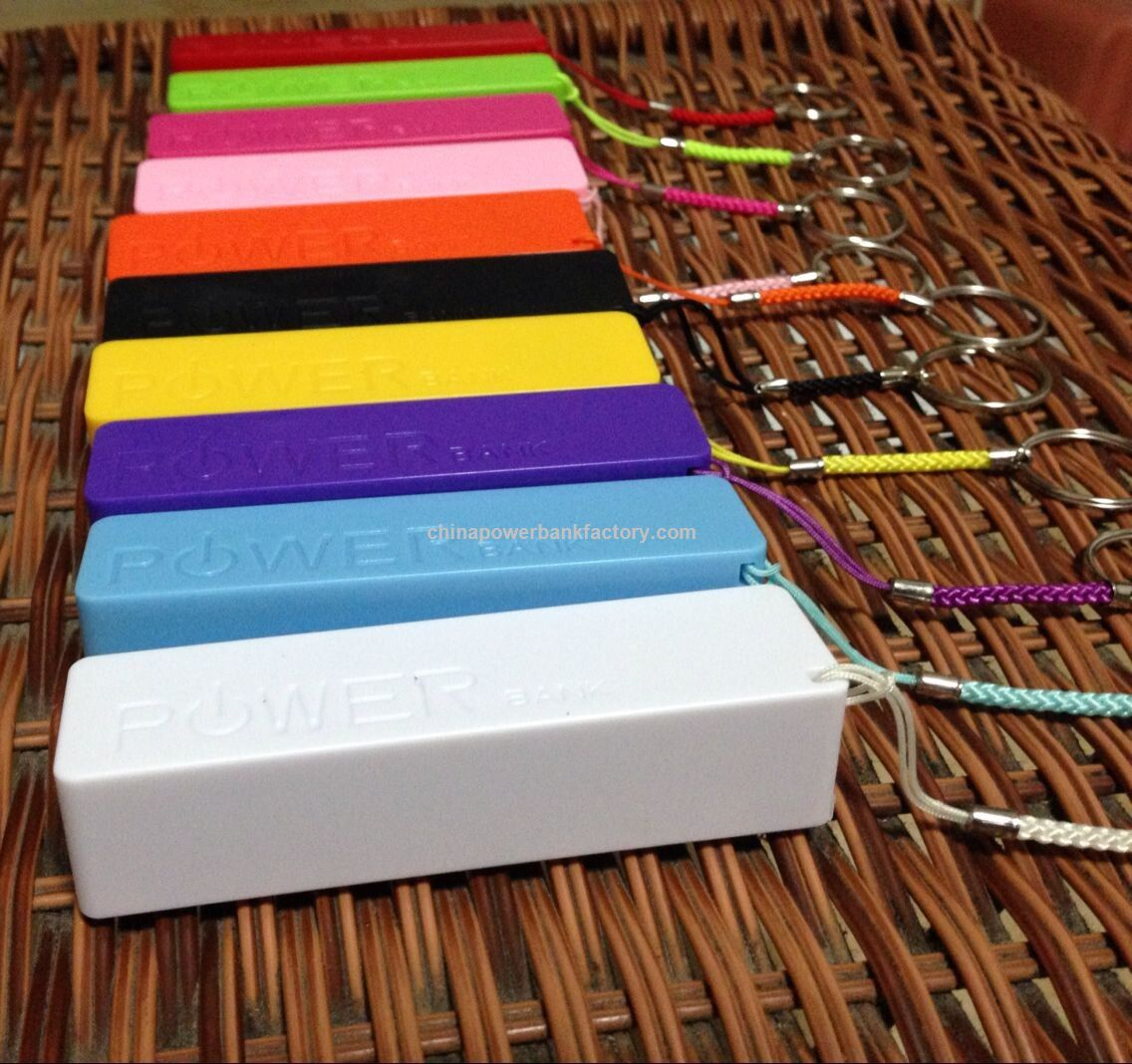 Wholesales 2600mAh Portable Mobile Power Bank for iPhone Android Phone