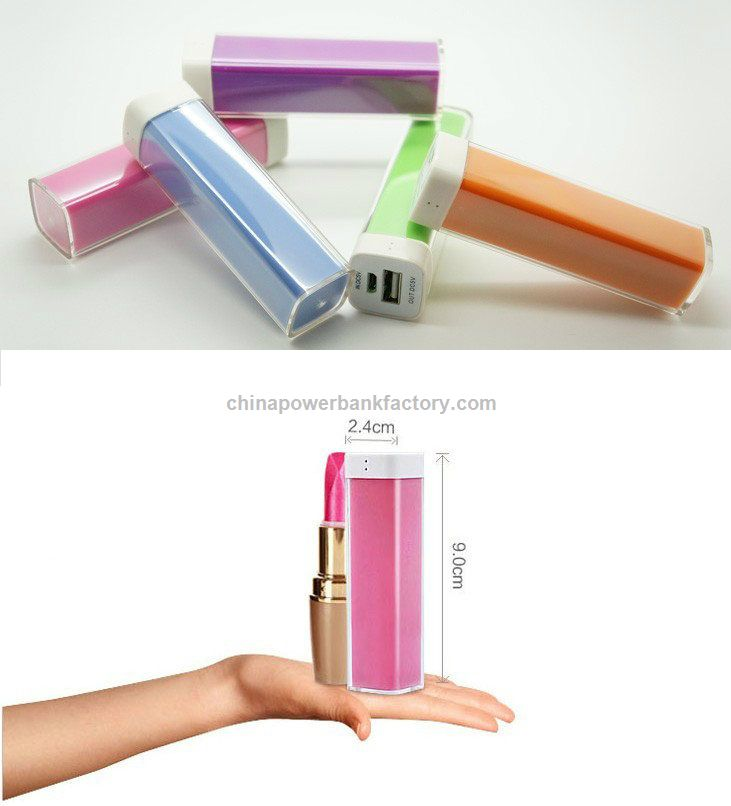 Lipstick 2200mAh Portable Power Bank for Mobile